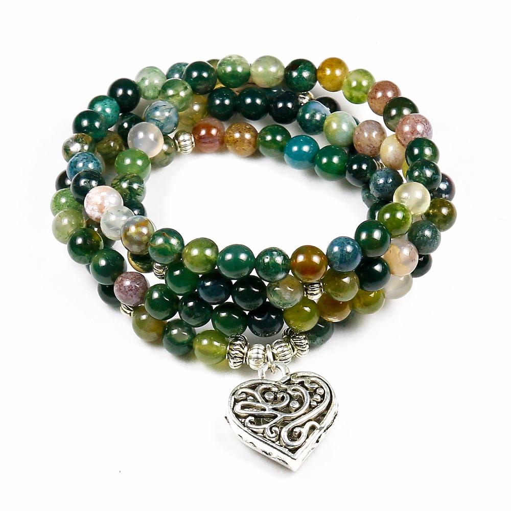 Bracelet Mala 108 perles Lotus, Buddha, OM, Arbre de vie