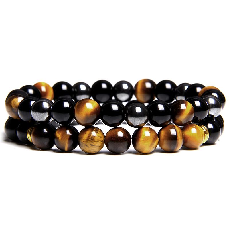 2-pi-ces-hommes-Bracelets-perles-pierre-naturelle-Onyx-noir-oeil-de-tigre-h-matite-pierre