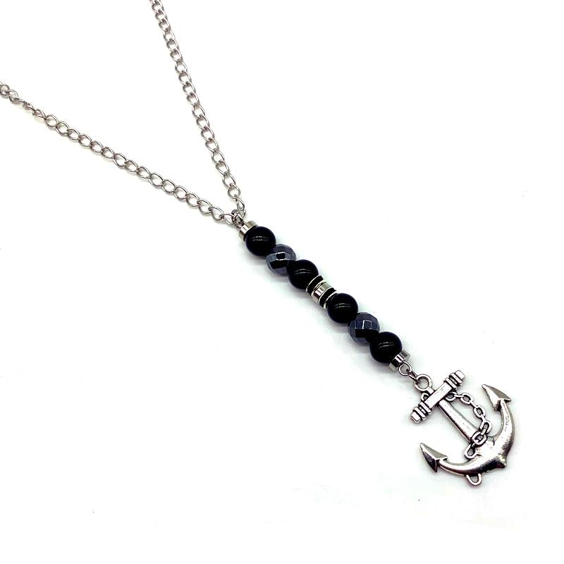 collier perles pierres chainette cadeau homme
