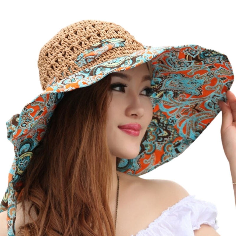 Chapeaux Paille-Tissu ESPANA 5