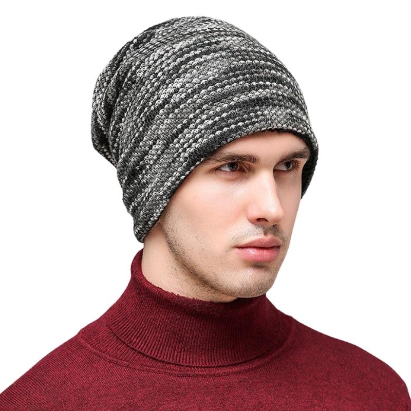 bonnet de laine polaire homme