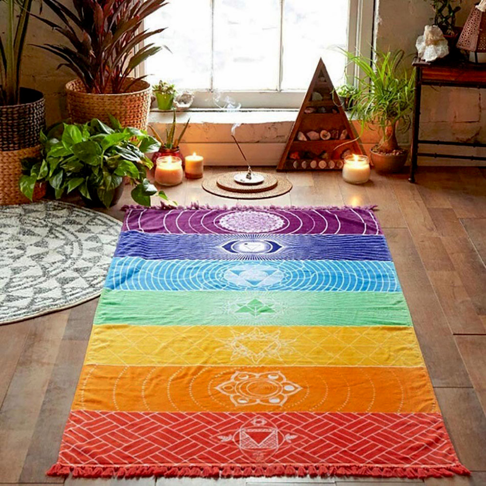 Tapis de méditation des 7 Chakras