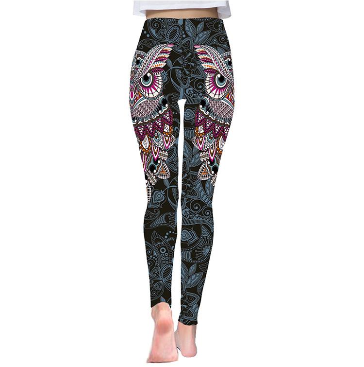 Pantalons de Yoga Mandala Taille Haute pour Femme