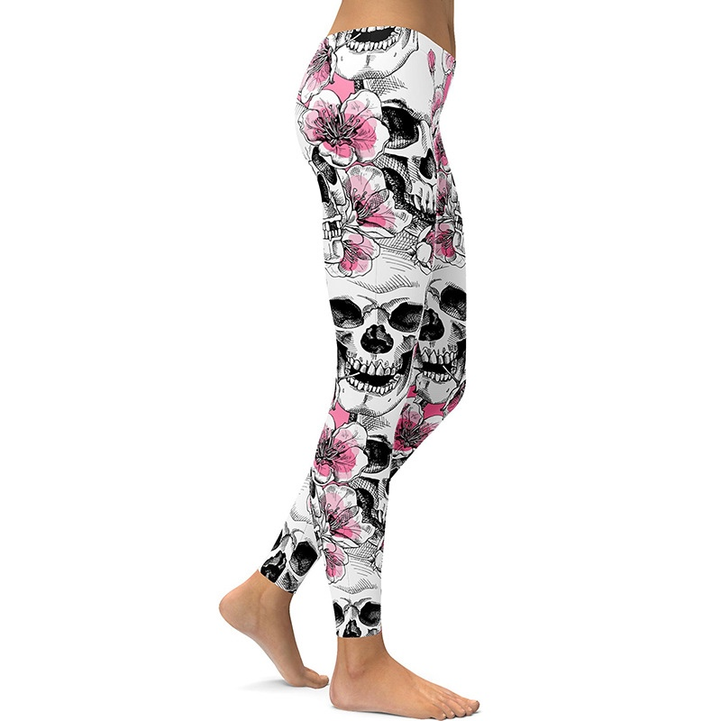 Legging Sport Gym Yoga Pink Pirate