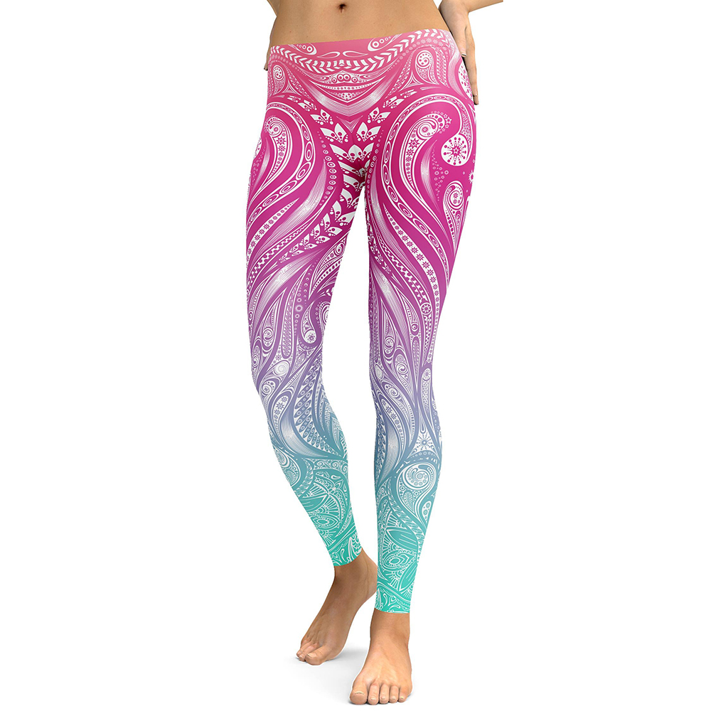 Legging Sport Gym Yoga Wave Mandala Taille S