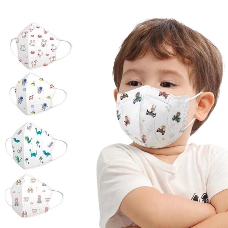 Masques Enfant et Bébé -Kn95-Masque-facial-4-couches-respirant-bouche- normes ffp2 réutilisable