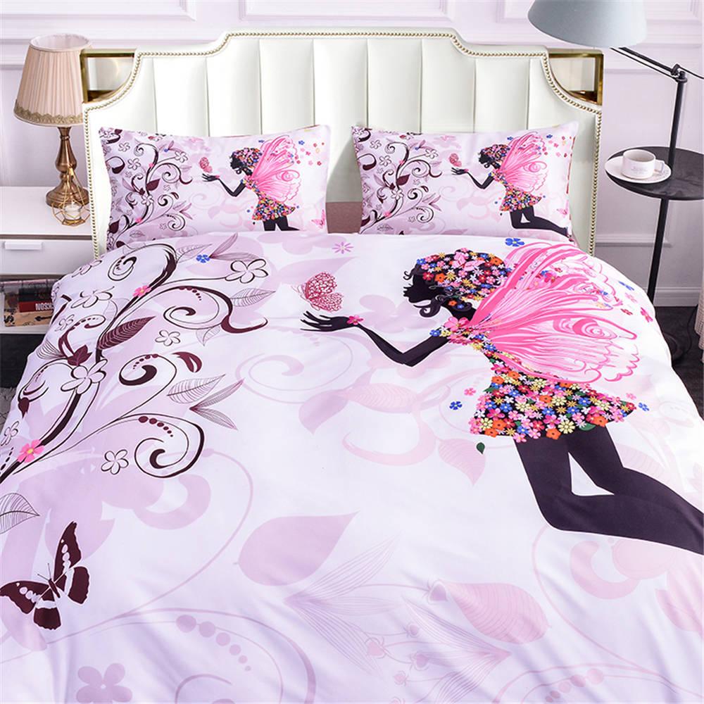 Parure de lit et protège couette