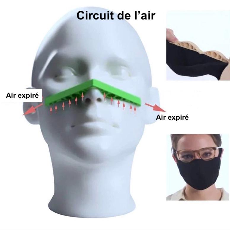 Clip de nez anti-buée pour masque