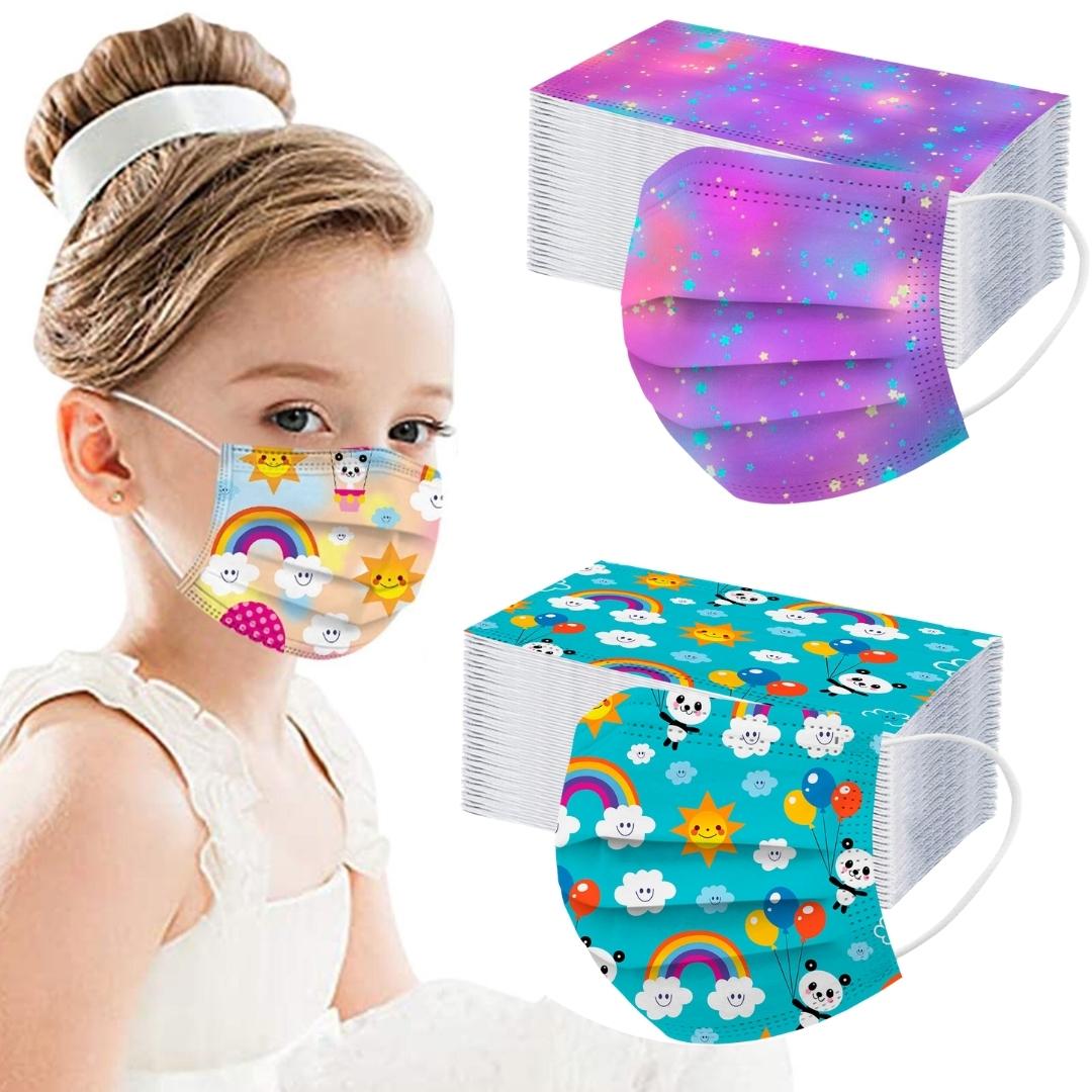 masque enfant réutilisable coloré