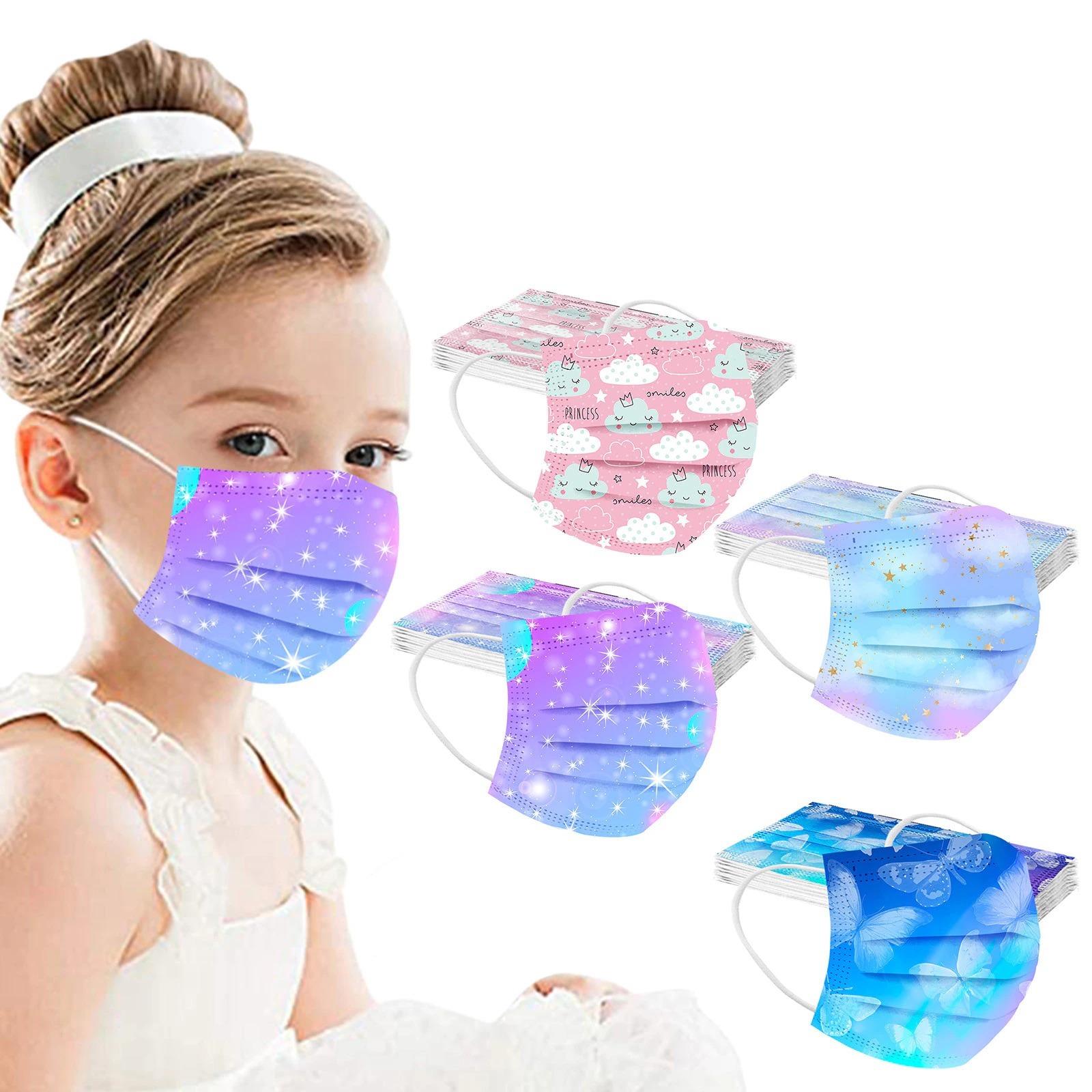 Masques chirurgicaux colorés pour enfant de 6 à 12 ans
