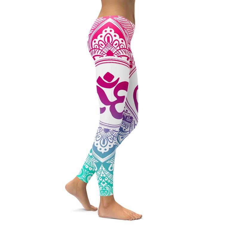 Legging Sport Gym Yoga Purple Ohm