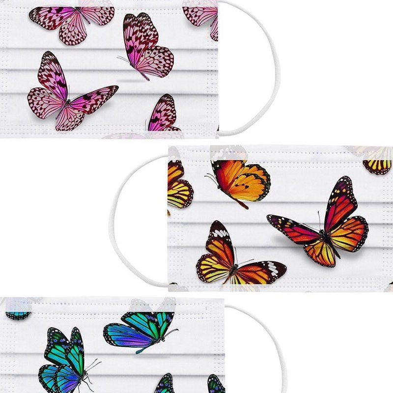 Masques Adulte LEPIDOPTERE papillons multicolores imprimes