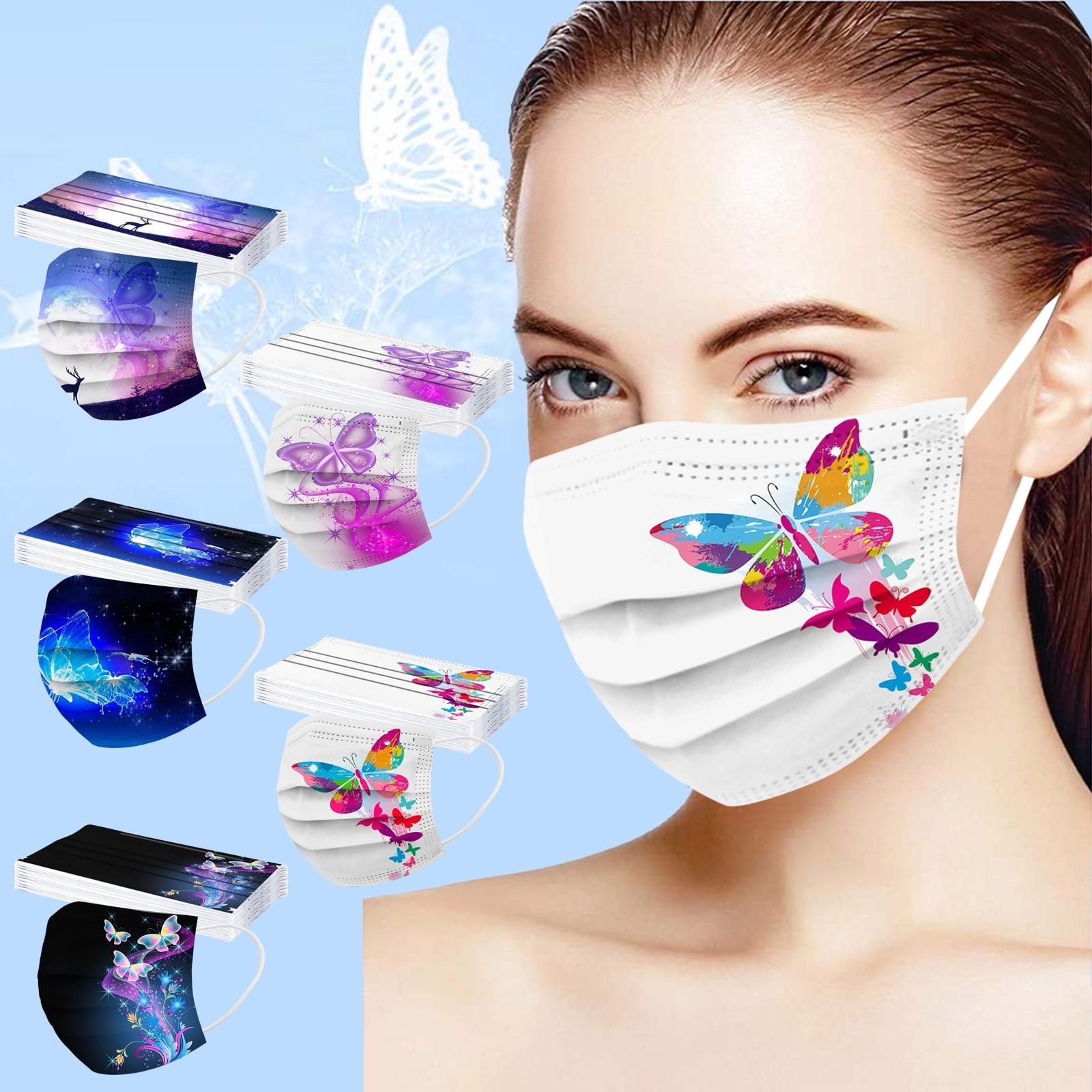 Masques chirurgicaux PAPILLONS Adultes premier prix économique