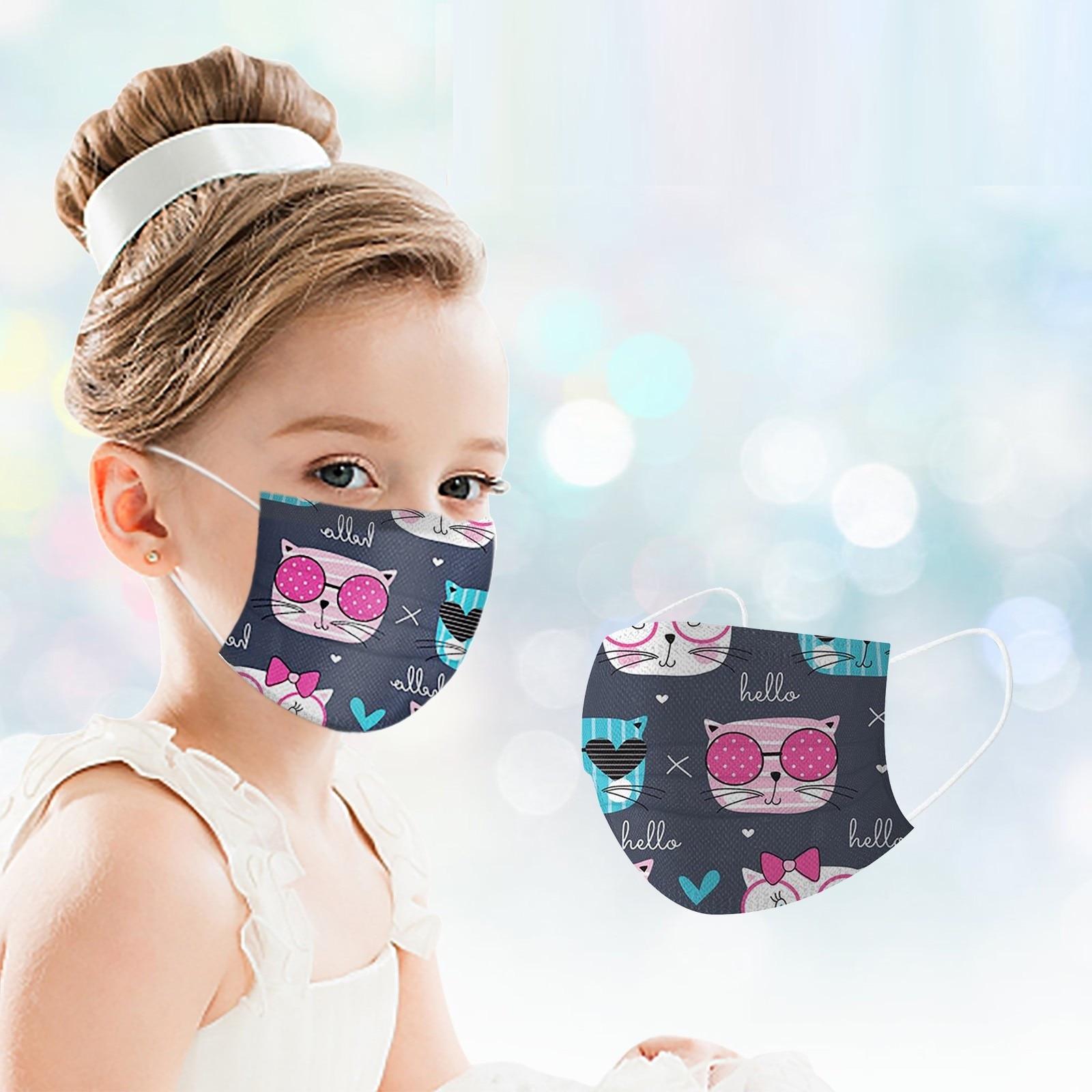 masques chirurgicaux colorés tissu pour enfant et adulte