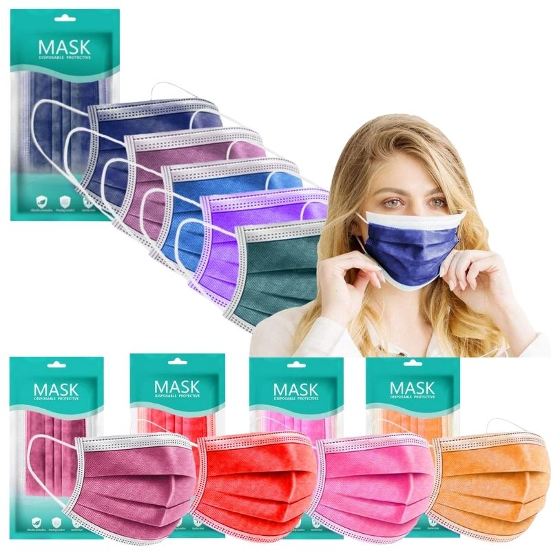 masques colorés tissus pour enfant et adulte