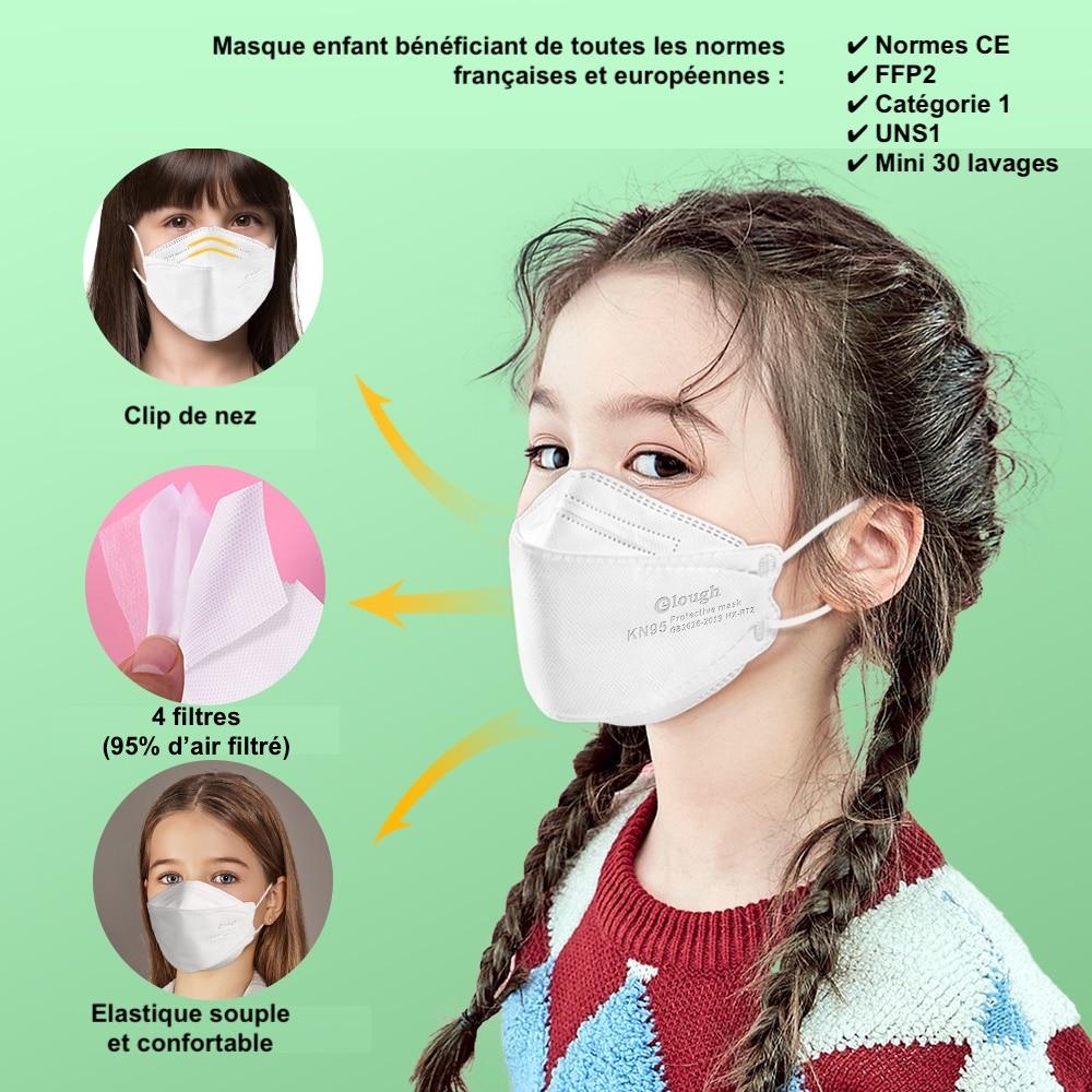 masques pour enfant école sport, catégorie 1