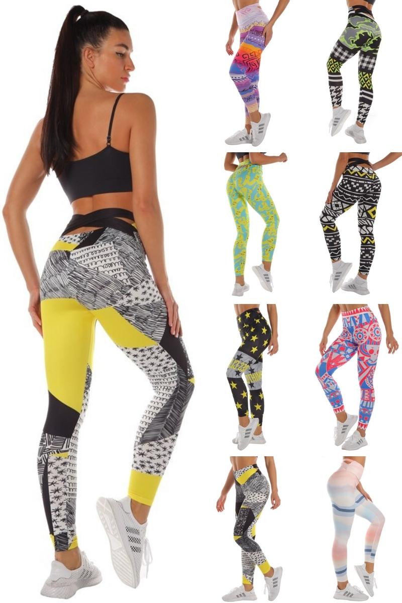 leggings jaune et noir femme sport yoga fitness du S au XL