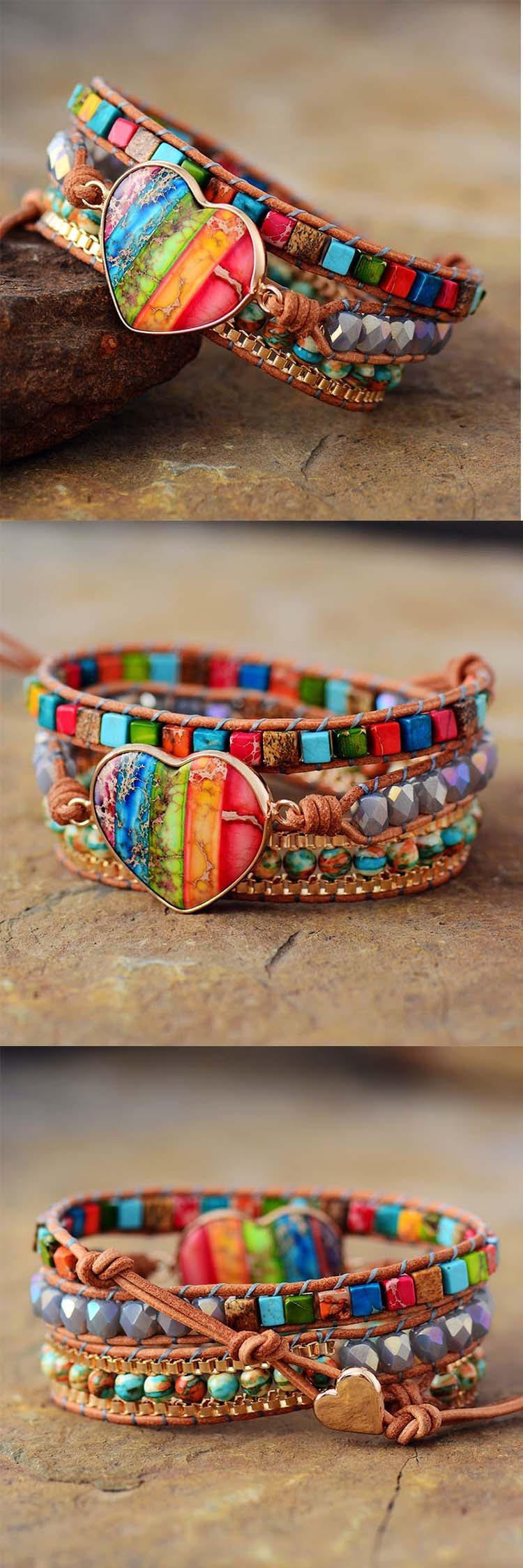 bracelet rainbow pour femme