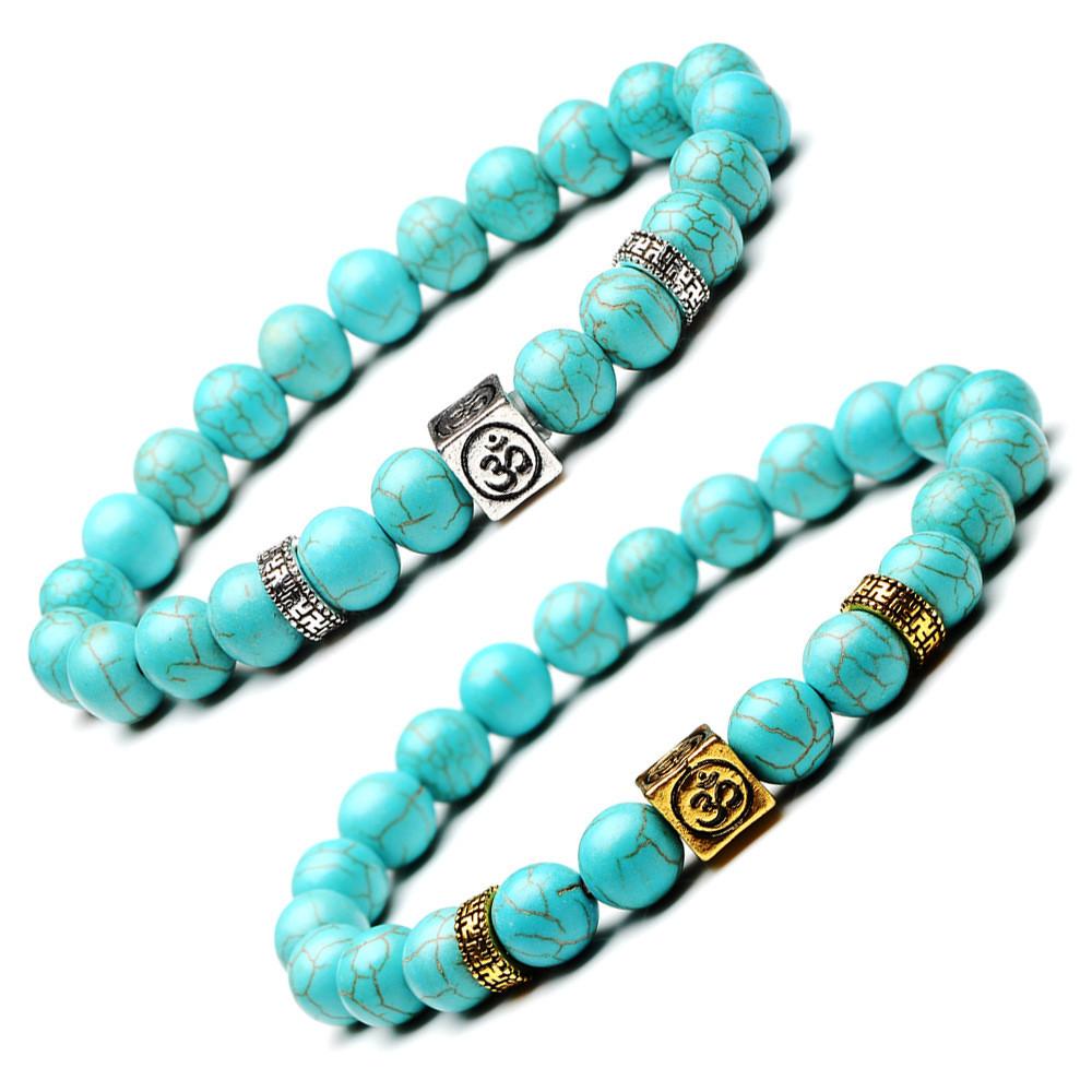 Bracelet Om̐ Turquoise