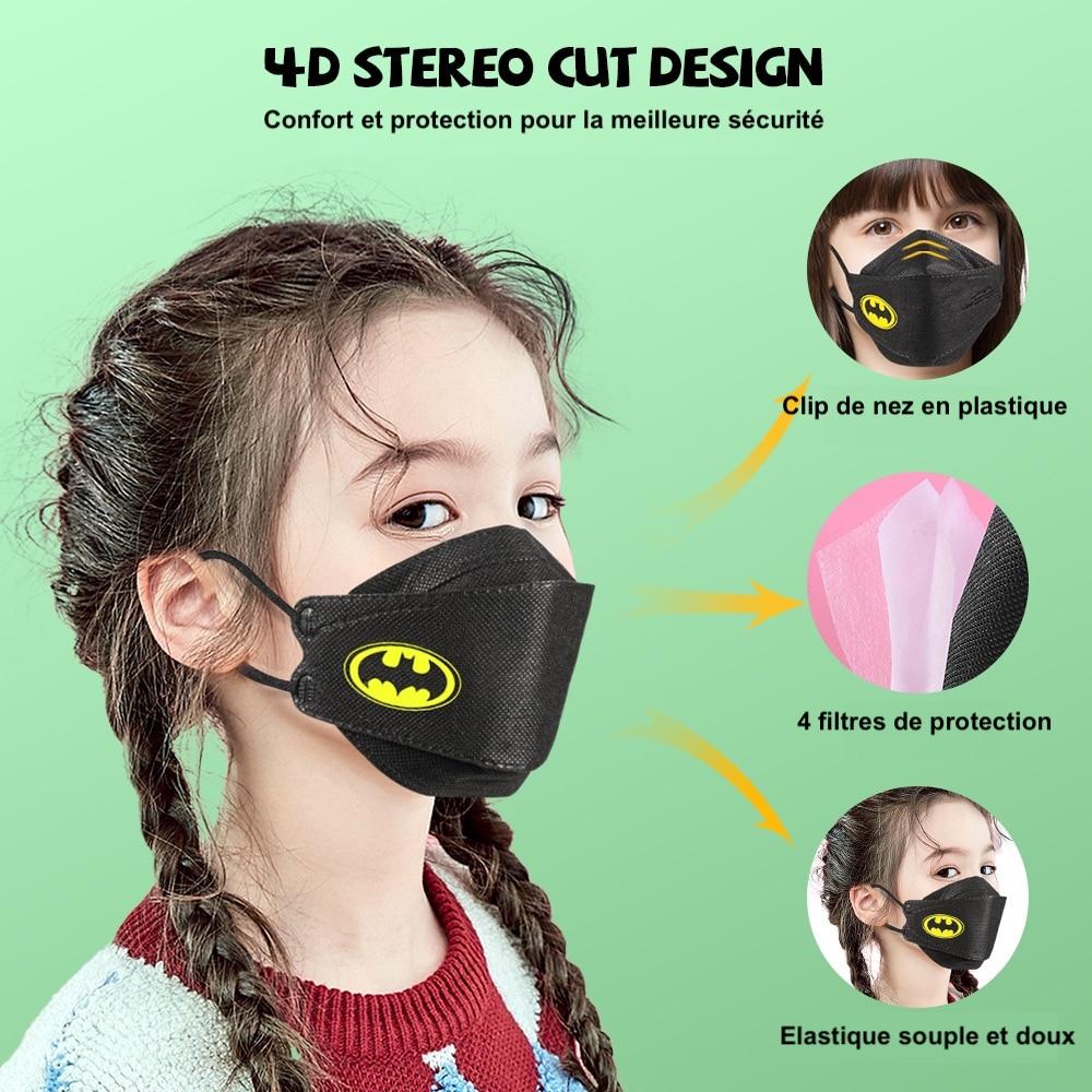 masques FFP2 categorie 1 pour enfant de 4 à 12 ans