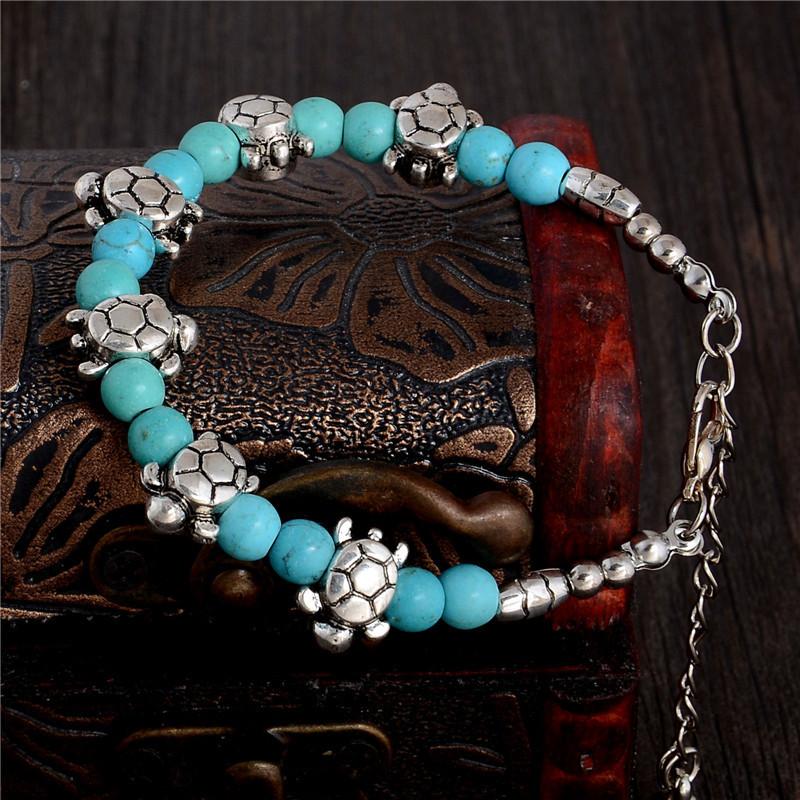 bracelet argent tortues