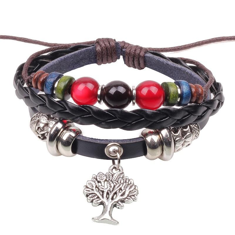 Bracelet cuir Arbre
