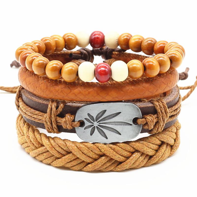Bracelet Feuille Canna clair