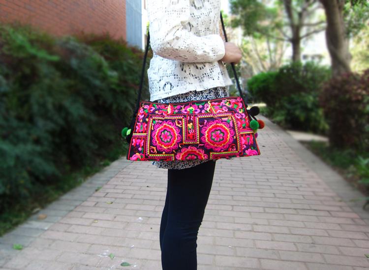 sac à main brodé style bobo sac de plage indien