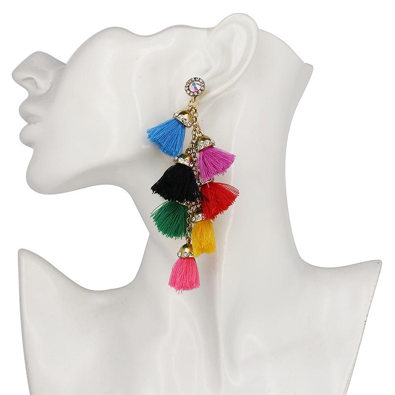 boucles d'oreille arc en ciel rainbow style bobo bohème chic