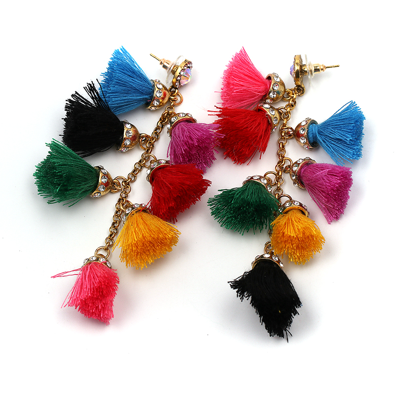 boucles d'oreilel arc en ciel rainbow style bobo bohème chic
