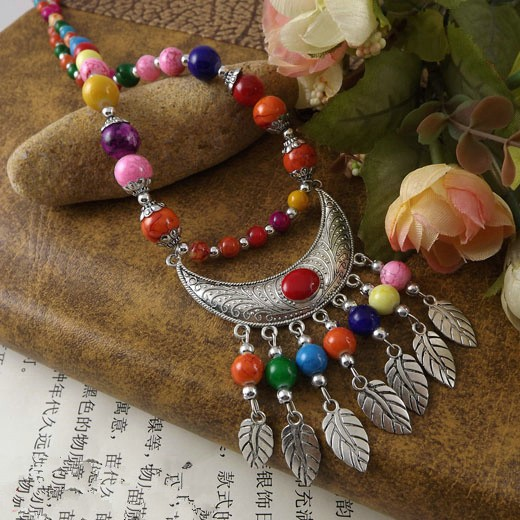 collier de perle tibetain