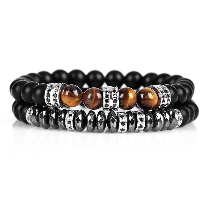 bracelet femme homme pierres naturelles obsidienne oeil du tigre