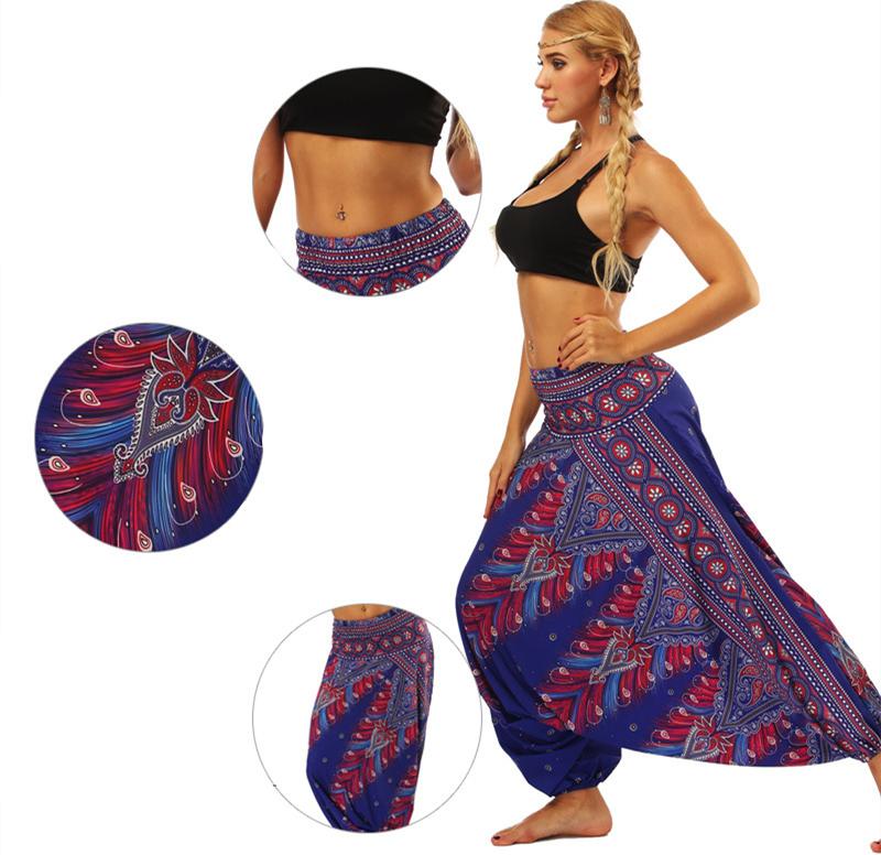 Pantalons de Yoga Mandala Taille Haute, Sarouel, yoga pants