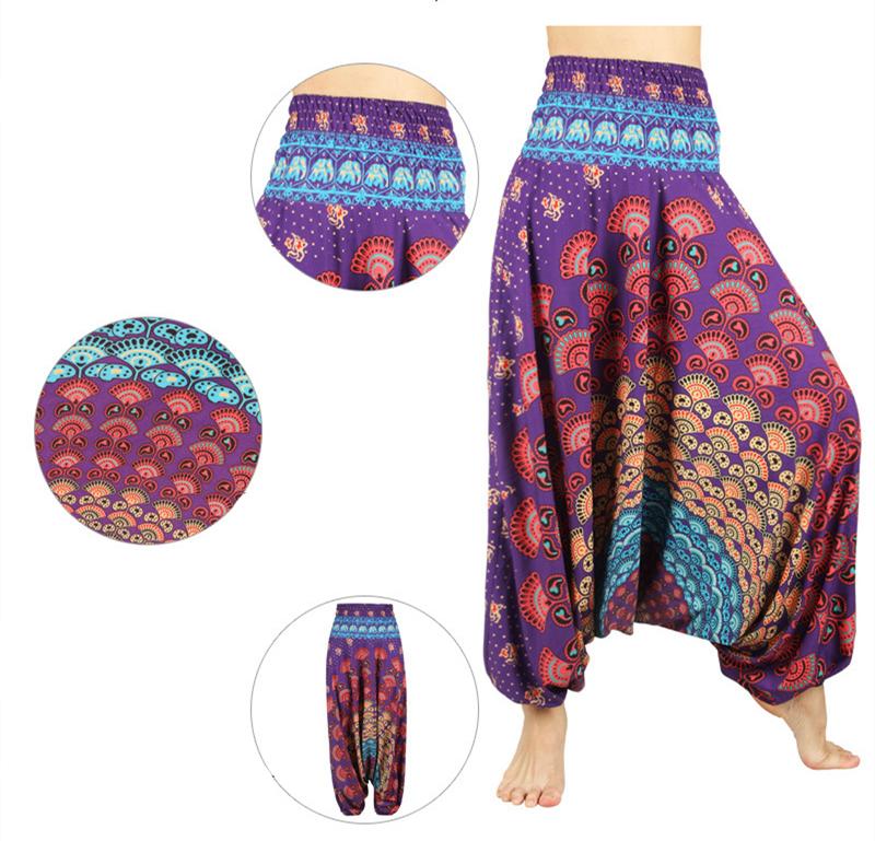 Pantalons et Sarouels de Yoga Mandala Taille Haute