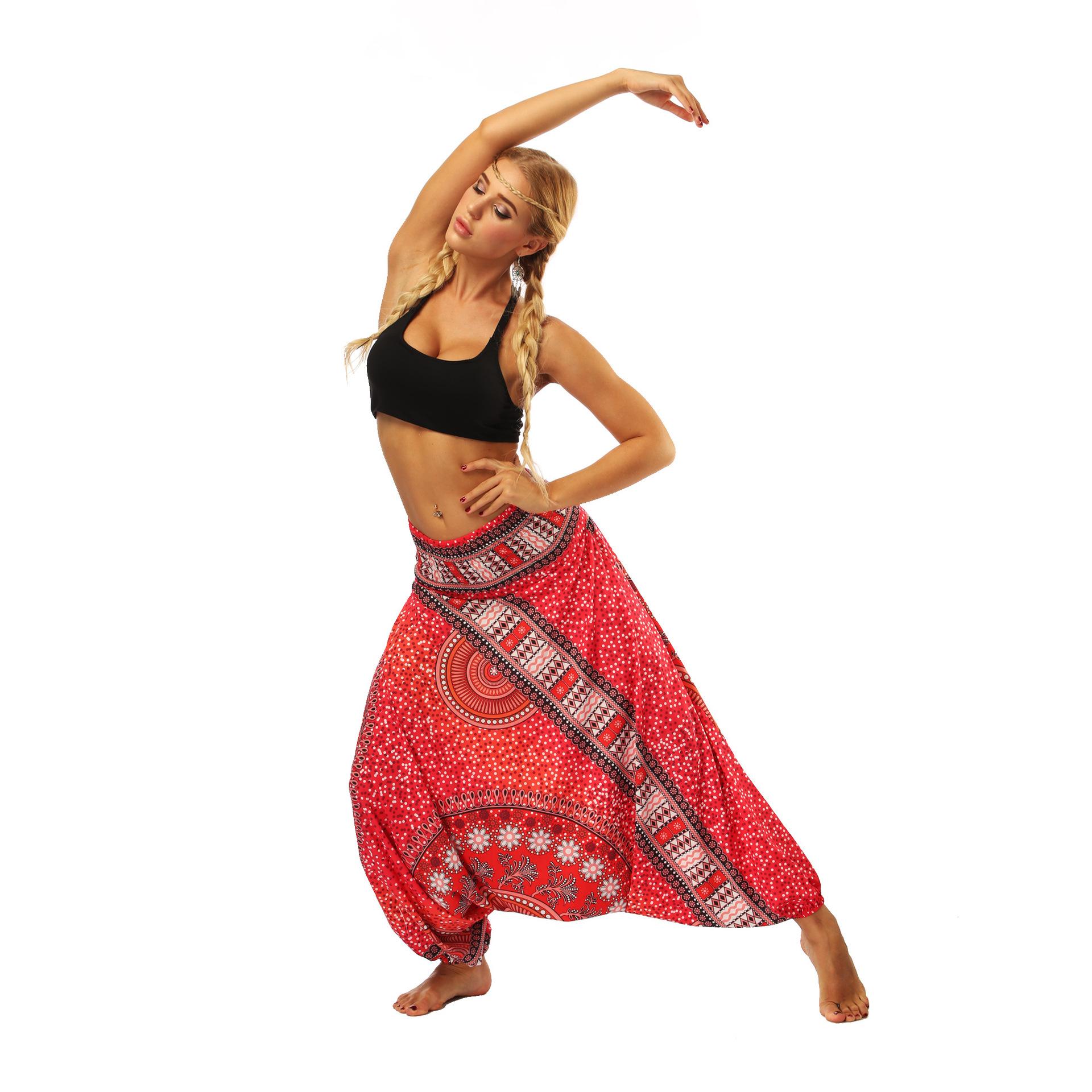 Pantalons de Yoga Mandala Taille Haute