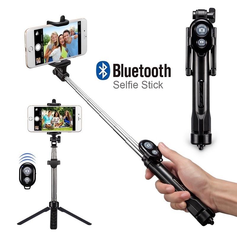 Bâton Selfie + Trépied + Télécommande Bluetooth
