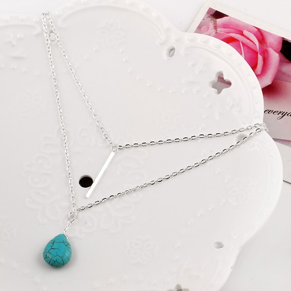 collier necklace boheme-chic turquoise argent boho-chic