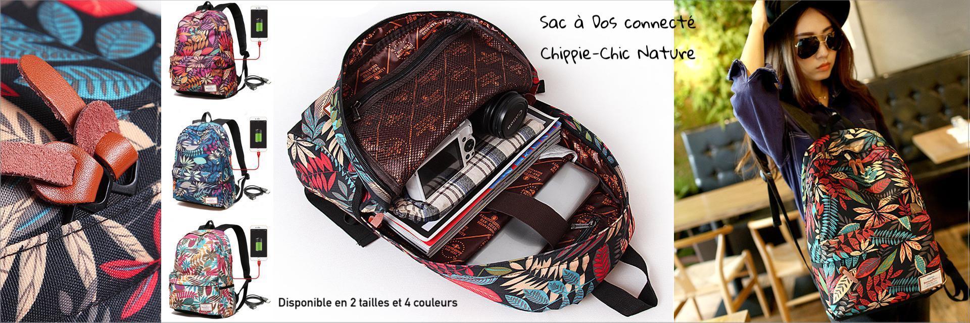 sac dos connect chippie chic hippie l 39 actu. Black Bedroom Furniture Sets. Home Design Ideas