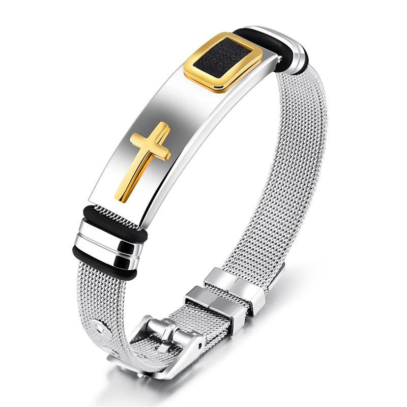 Bracelet métal Croix pour homme