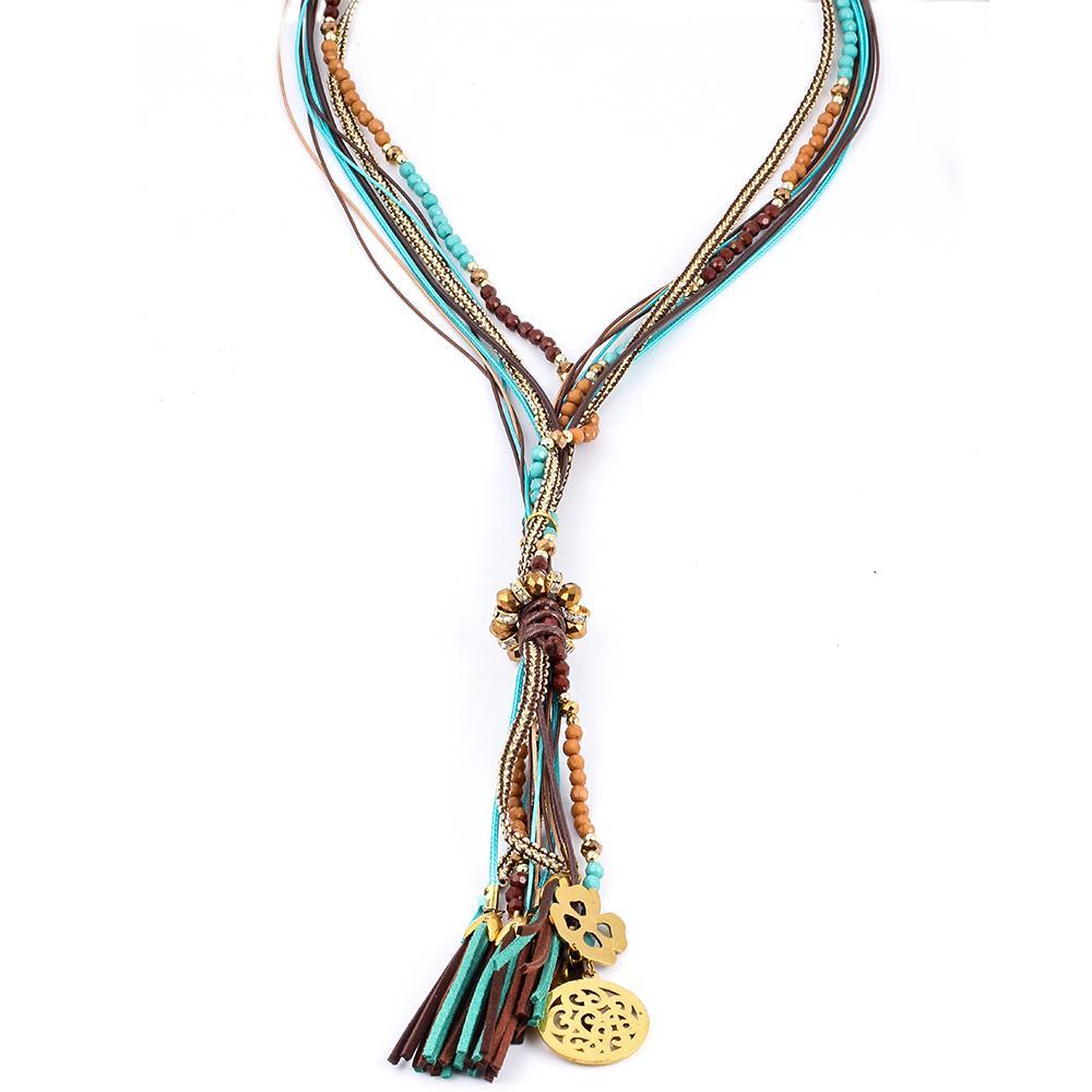 Collier à perles Lhassa