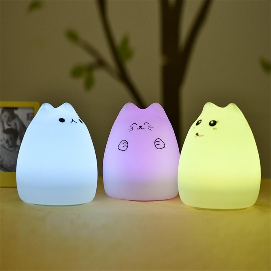 Lampe Veilleuse Chat pour Chambre de Bébé