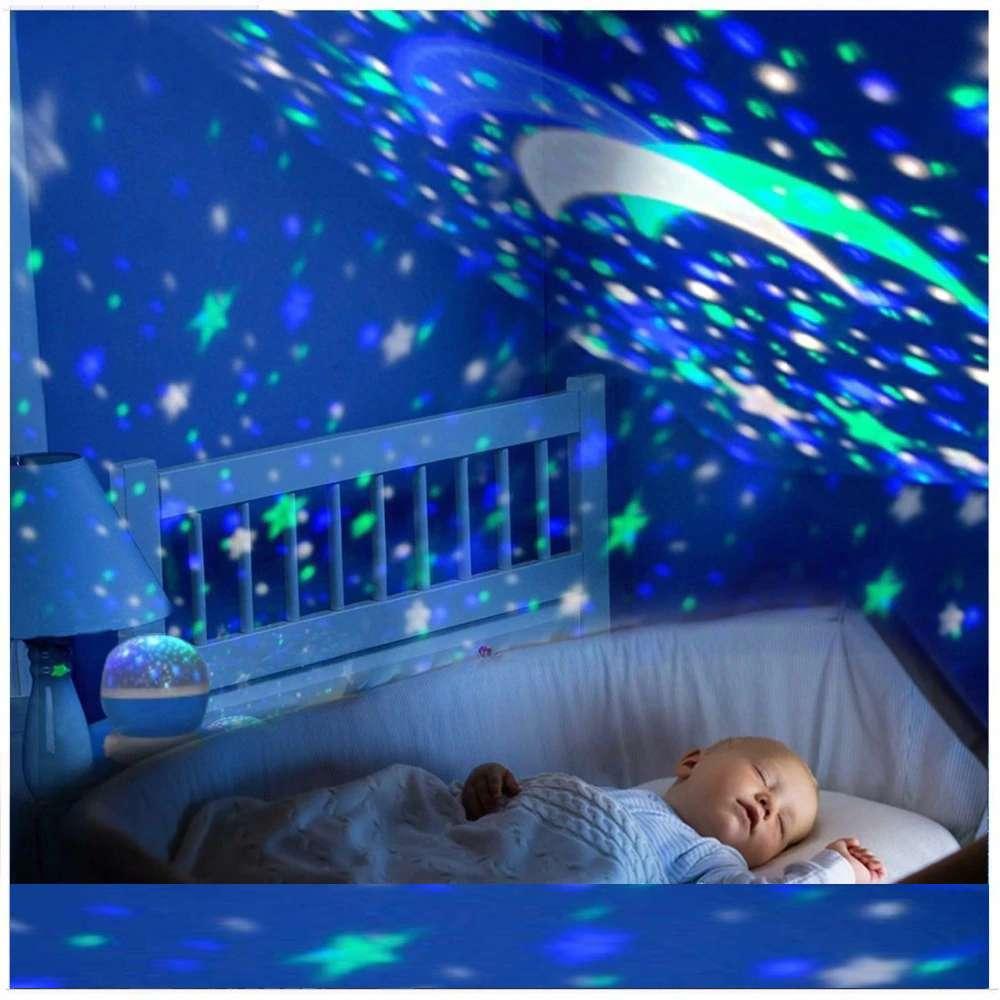 Lampe Veilleuse Étoiles Projetées