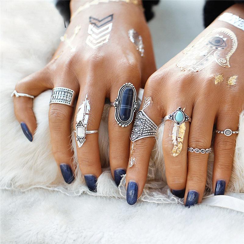 rings bagues femme argent silver bohochic boheme