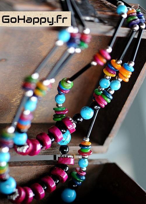 collier bohème en pierres semi-précieuses style boho-chic