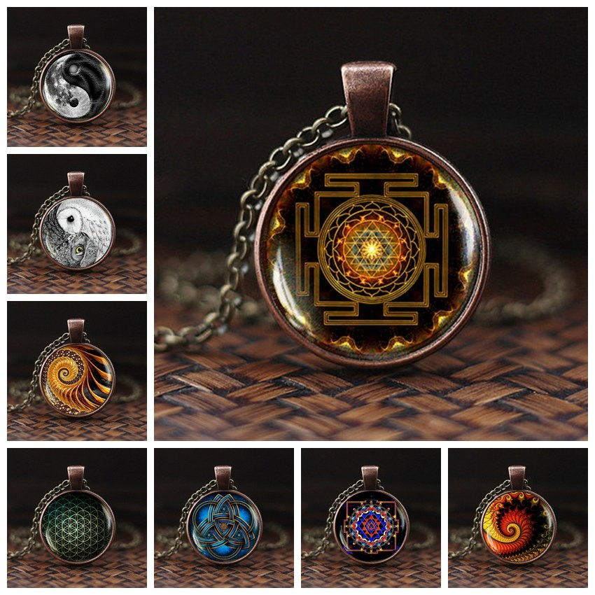 Colliers Pendentifs Yantra Bouddhiste