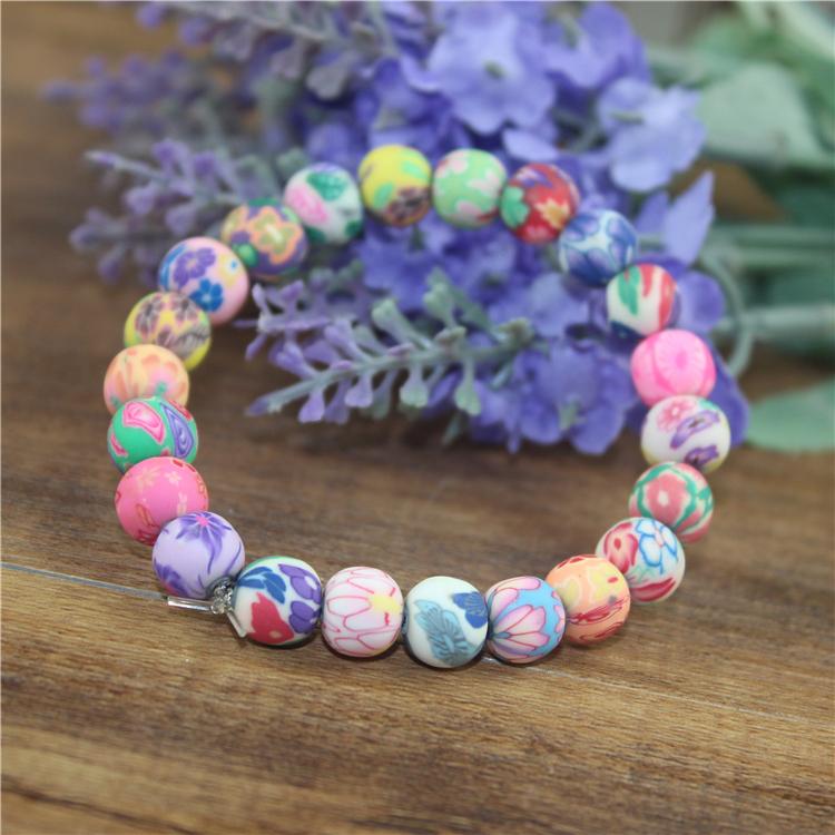 Bracelet Perles Fleurs
