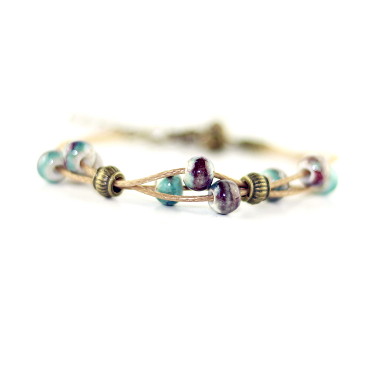 Bracelet céramique Blue/Purple