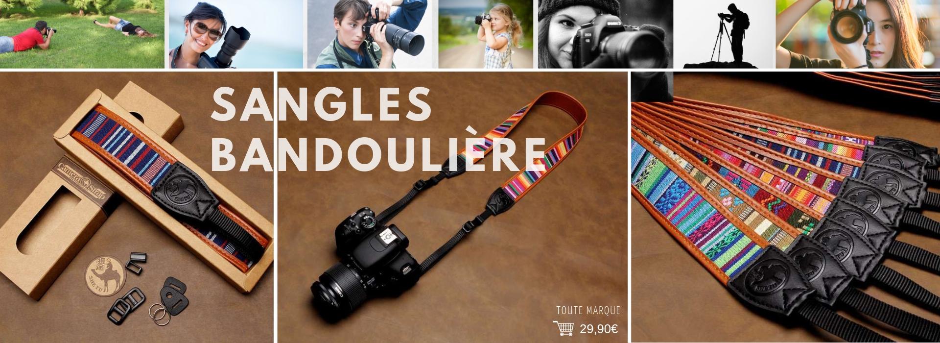Sangle Bandoulière Design pour appareil photo toute marque