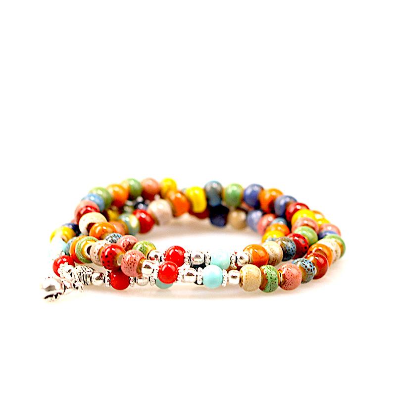 Bracelet Perles de Porcelaine