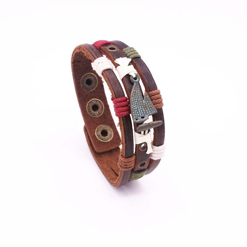 Bracelet Cuir Homme Voilier